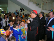Visita di sua Eminenza Cardinale Sepe al Virgilio 4 del 18/05/2010-Lettera del Dirigente Scolastico Dr. Paolo Battimiello