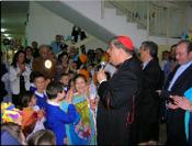 Visita di sua Eminenza Cardinale Sepe al Virgilio 4 del 18/05/2010-Lettera del Dirigente Scolastico Dr. Paolo Battimiello
