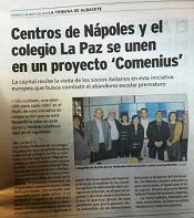 Partenariato Comenius Regio-Spagna-Visita della delegazione italiana del Virgilio 4 in Spagna 1-5 Maggio 2013